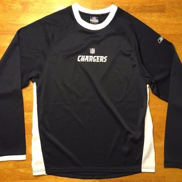 89acae92 NFL Team Reebok Apparel San Diego Chargers Shirt L