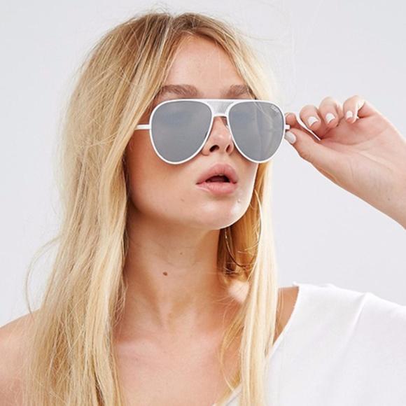 a079cc170b QUAY x Kylie White Iconic Sunglasses. M 59f76fdff0928259380b51f8