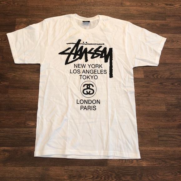4c6a1776 Stussy Shirts   World Tour City Tshirt Sz Medium   Poshmark