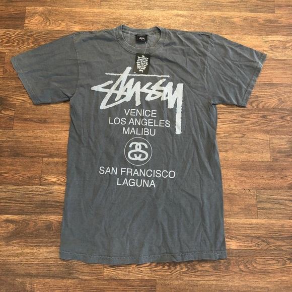 c0cd9d28 Stussy Shirts   California Cities Tour Tshirt Sz Medium   Poshmark