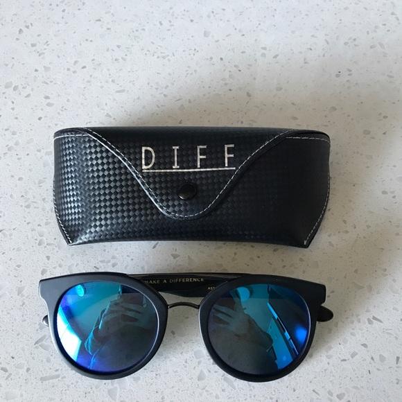 f04112d3e8 Diff Eyewear Accessories - DIFF Eyewear Astro Matte Black + Blue Mirror