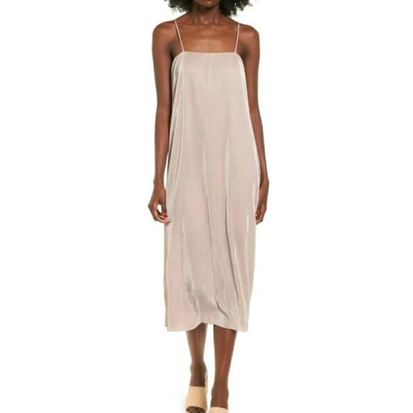 4051a1aca1 BP. Ribbed Midi Slipdress TAN OAK dress