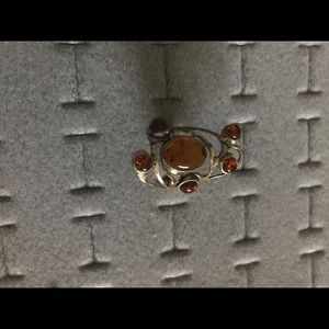 Jewelry - Real Amber stones sterling silver ring