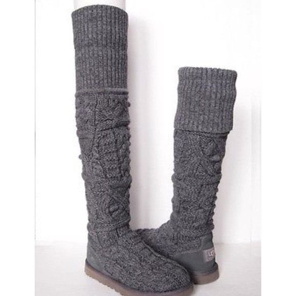 f6a8fe4cd0c GREY CABLE KNIT UGG BOOTS