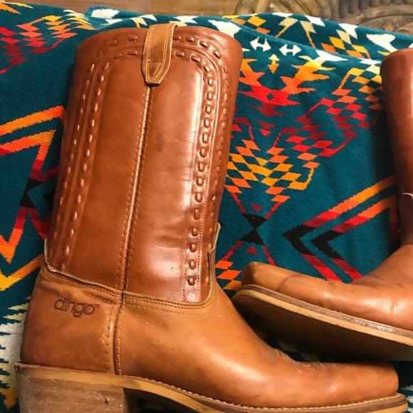 09a8cde426a Vintage ACME DINGO Western Ropers Cowboy Boots
