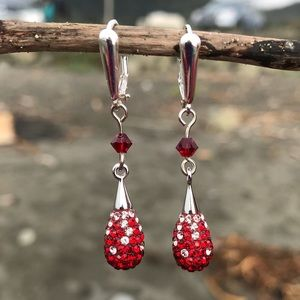Jewelry - Handcrafted earrings with Swarovski crystal #266