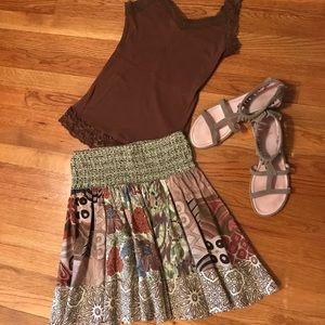 Dresses & Skirts - Patterned Skirt w/ Bonus Tank!