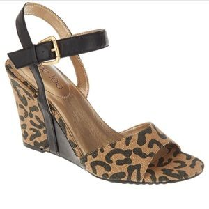 "ME TOO ""Lucie"" Leopard Print Wedges 🌟Sz 8.5🌟"