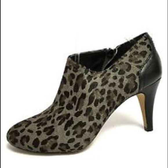 Vince Camuto Shoes - Vince Camuto Gray Leopard Calf Hair Vala Booties