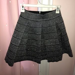 Sparkly skirt with black detail