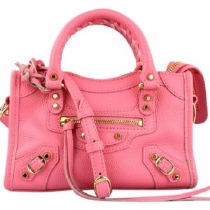 Balenciaga Nano City Pink Satchel