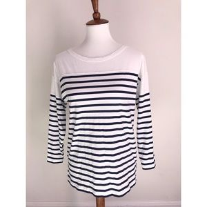 J. Crew striped black label blouse