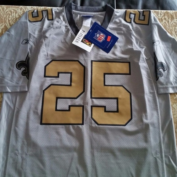 new products fbed9 6cabc Reggie Bush New Orleans Saints Grey Jersey NWT
