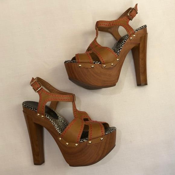 6e7efea83eff Jessica Simpson Shoes - Jessica Simpson Wooden Platform Sandals 8.5