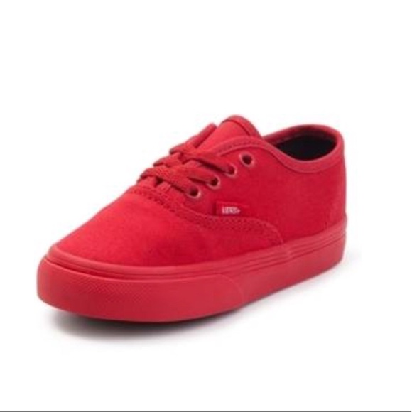 c1c739467f Vans Toddler Authentic Skate Shoe Red Mono style. M 59f78ea4c28456f51c0be326