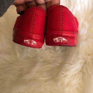 Furgonetas Niño Auténtico Zapato De Skate Mono Rojo zcDsog5