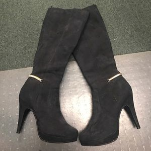 Black Suede Boots by H&M