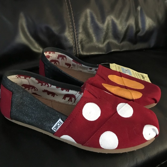 Minnie Painted Toms Womens Size