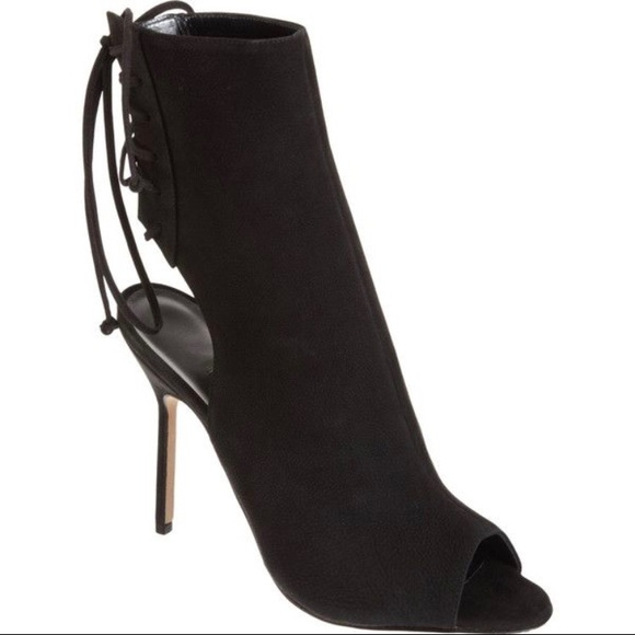 Manolo Blahnik Suede Peep-Toe Ankle Boots 2015 new online fashion Style sale online for sale cheap online buy cheap shopping online free shipping 2014 newest VOsCGHt8R