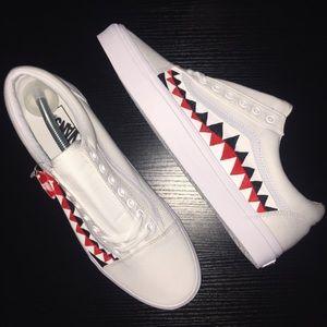 06accda7041c21 Vans Shoes - Custom (Bape Shark Teeth) Inspired Vans