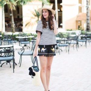 kate spade Tops - Editor Pick! Kate Spade stripe flutter sleeve top