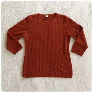 J. Crew cashmere burnt orange sweater, M