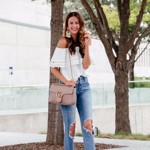 Rachel Roy white off the shoulder top