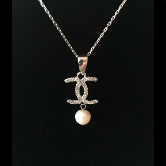 60 off chanel jewelry signature pendant with pearl authentic poshmark chanel signature pendant with pearl authentic aloadofball Gallery