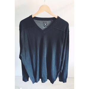 Hudson North Silk Blend V-Neck Sweater