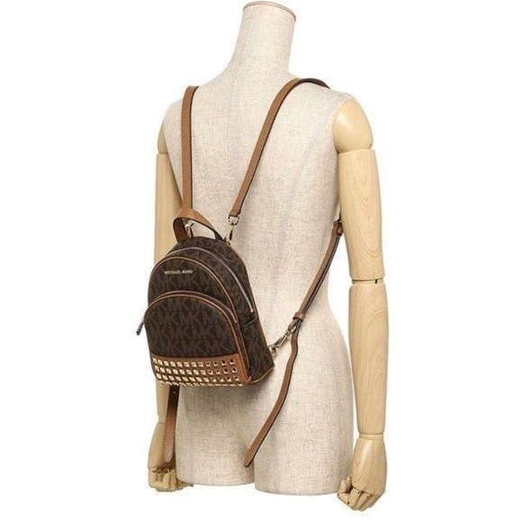 96e14576ad2d NWT Michael Kors Abbey MK Signature XS Backpack