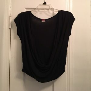 Black low cut shirt