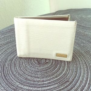 White Leather Salvatore Ferragamo Men's Wallet