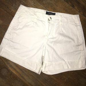 Sanctuary white cuffed jean shorts