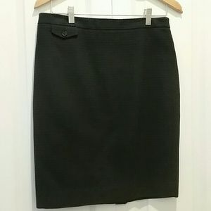 J CREW Navy No. 2 waffle Pencil Skirt