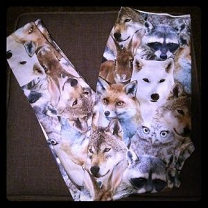 Pants - Rare Rabbit, Wolf, Racoon, Fox, Spandex Leggings