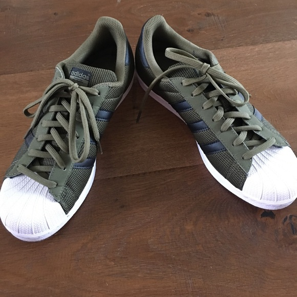 adidas superstar green army