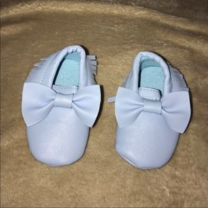 Other - Baby blue faux leather moccasins
