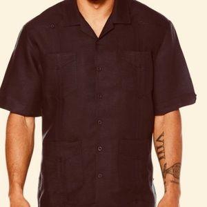 Cubavera Black Short Sleeve 4 Pocket Shirt