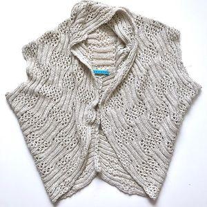 alice + olivia Oatmeal Linen Blend Knit Vest