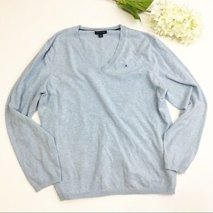 ⚫️ Tommy Hilfiger Light Blue Sweater