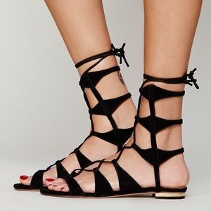 Schutz gladiator lace up ankle sandals
