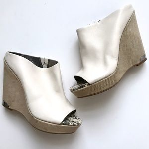 Sam Edelman Kylie White Leather Wedges * AS IS *