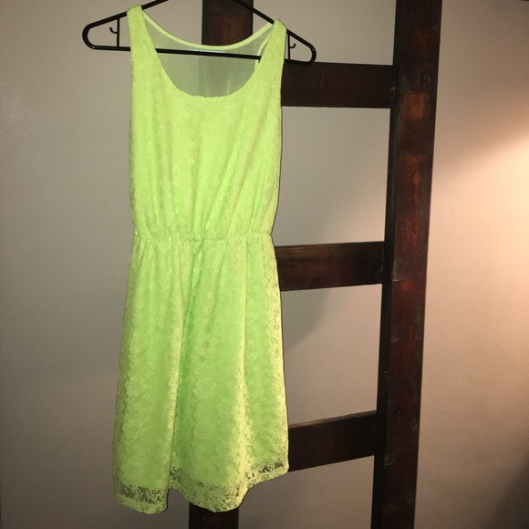 e61edac5319f Maurices Dresses | Lime Green Floral Dress | Poshmark