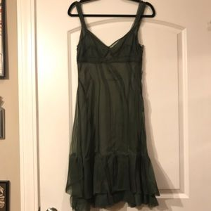 NWOT Prada Silk Organza multilayer Flare Dreas