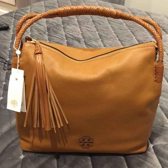 e60a2a0ee7a2 Tory Burch Taylor Pebbled Leather Zip-Top Hobo Bag