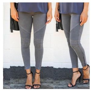 Charcoal Moto Jeggings