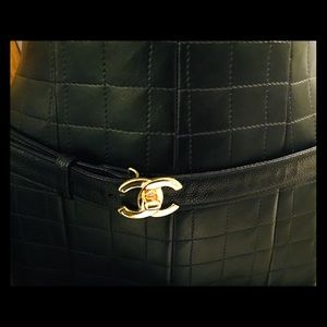 Chanel leather belt