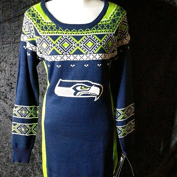 b13e14f5bee Nfl Sweater Dress Seattle Seahawks Football Team