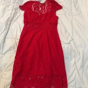 Saylor x free people red lace dress