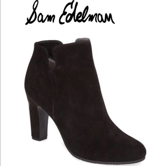 bba6484bdb85f Sam Edelman Shoes - Sam Edelman s Shelby Black Suede Bootie Size 5M